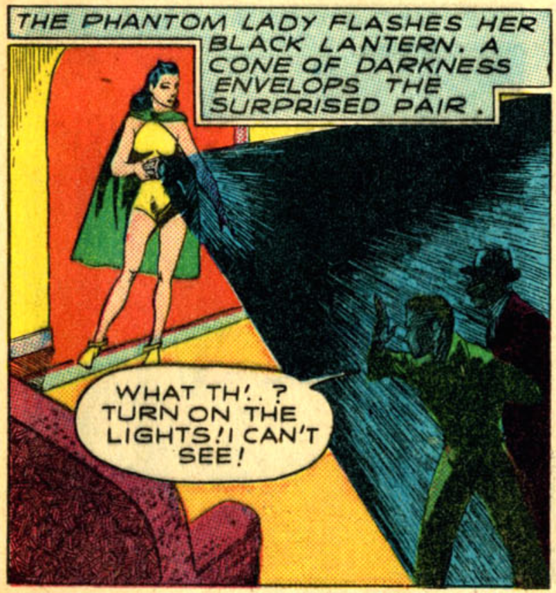 A panel from Police Comics #1, May 1941
