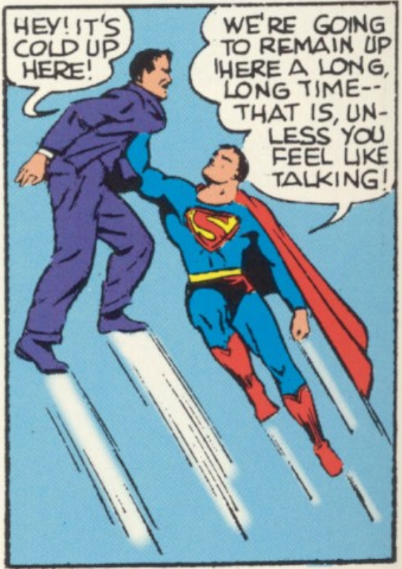 A panel from Superman #11, May 1941
