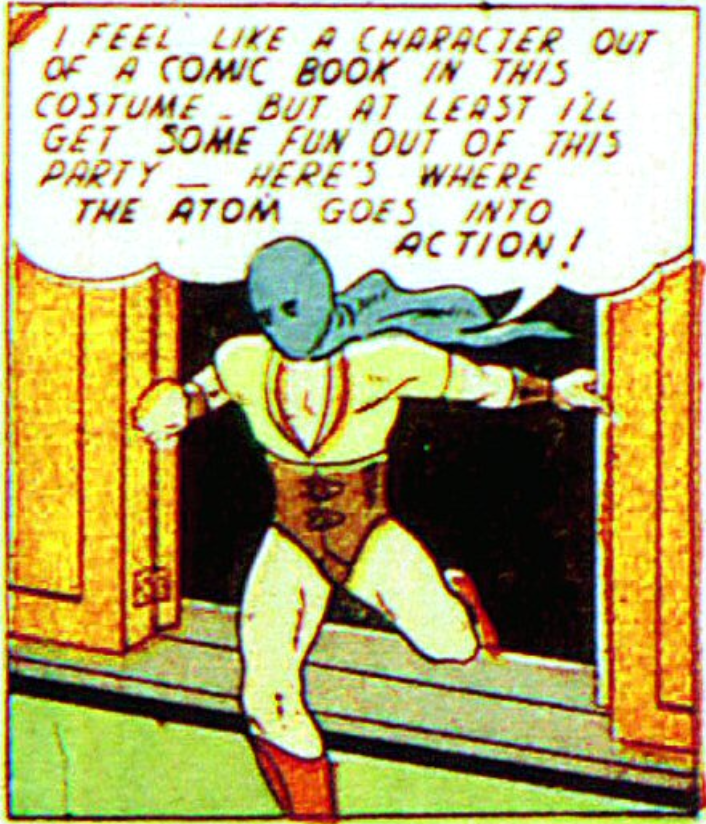 A panel from The Mighty Atom, All-American #20 (September 1940)