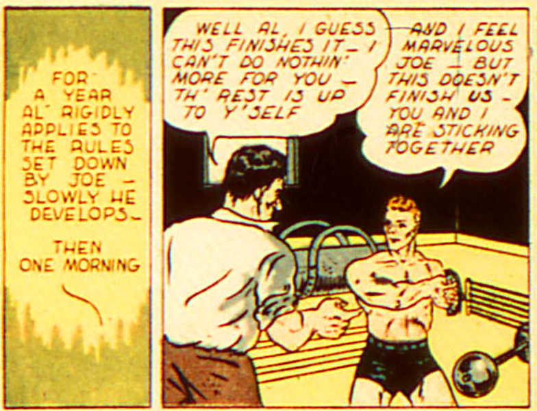A panel from The Atom, All-American Comics #19, August 1940