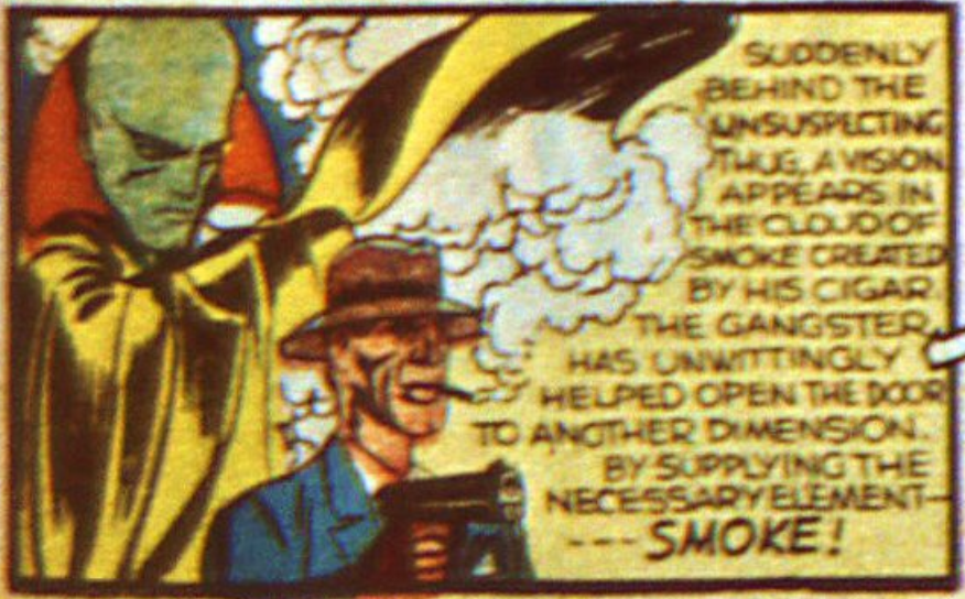 A panel from The Vision, Marvel Mystery Comics #13, September 1940