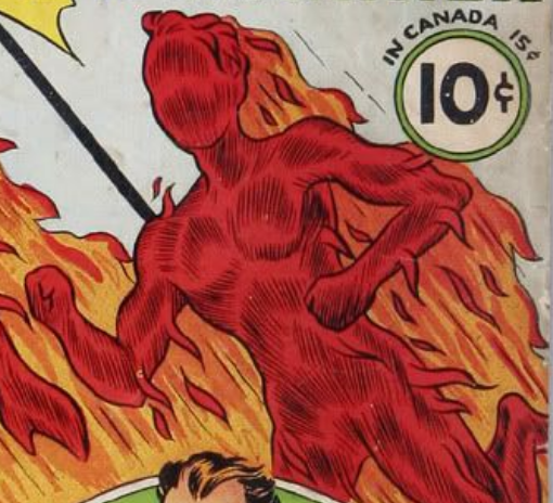 From the cover of The Human Torch #2 (September 1940).