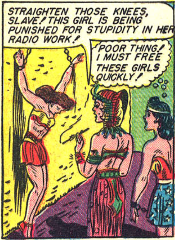 A panel from Sensation Comics #4, February 1942
