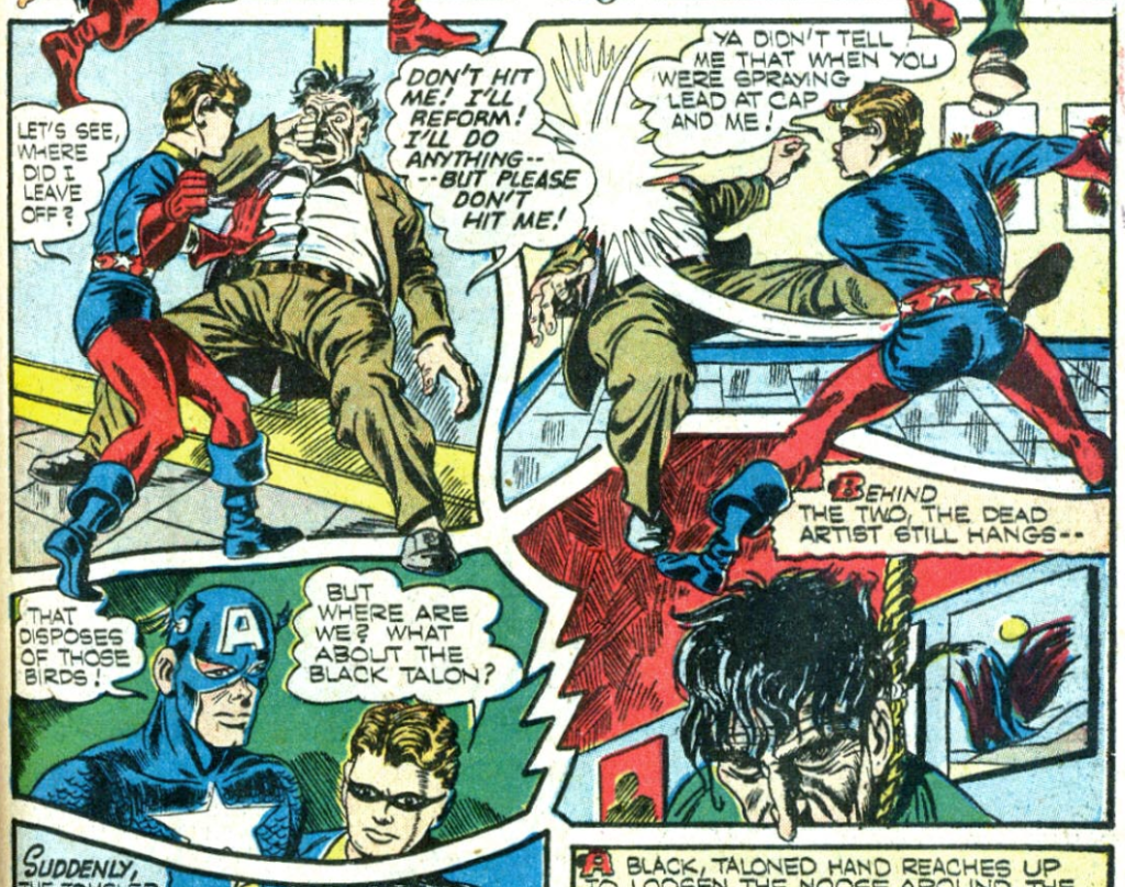 A panel from Captain America #9, September 1941