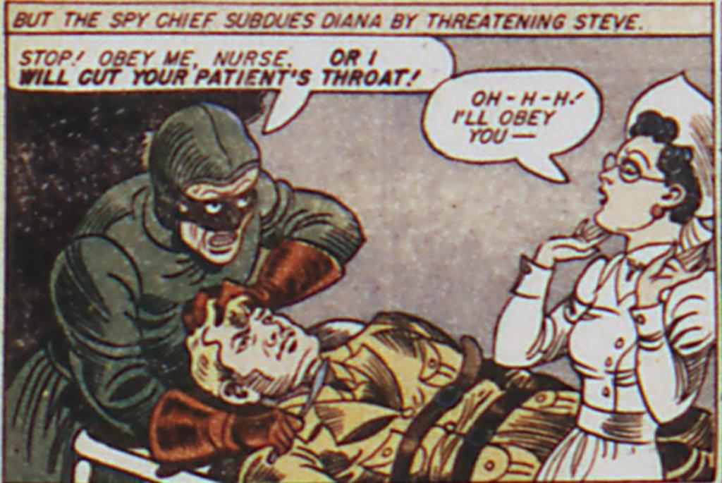 A panel from Sensation Comics #2, December 1941