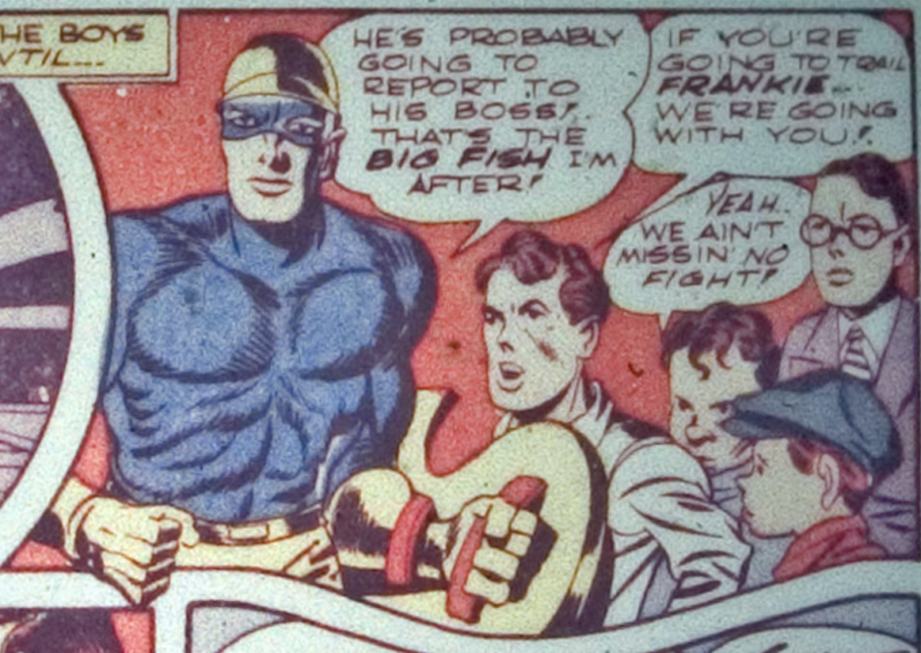 A panel from Star Spangled Comics #7, February 1942