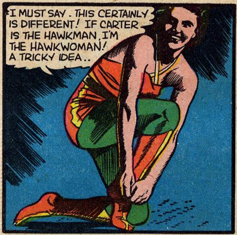 A panel from Flash Comics #24, October 1941