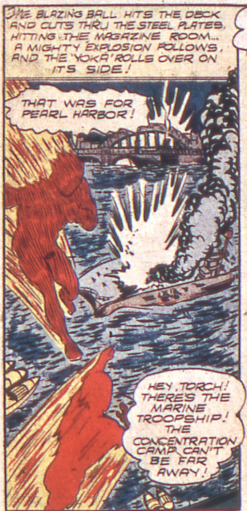 A panel from Marvel Mystery #31, March 1942