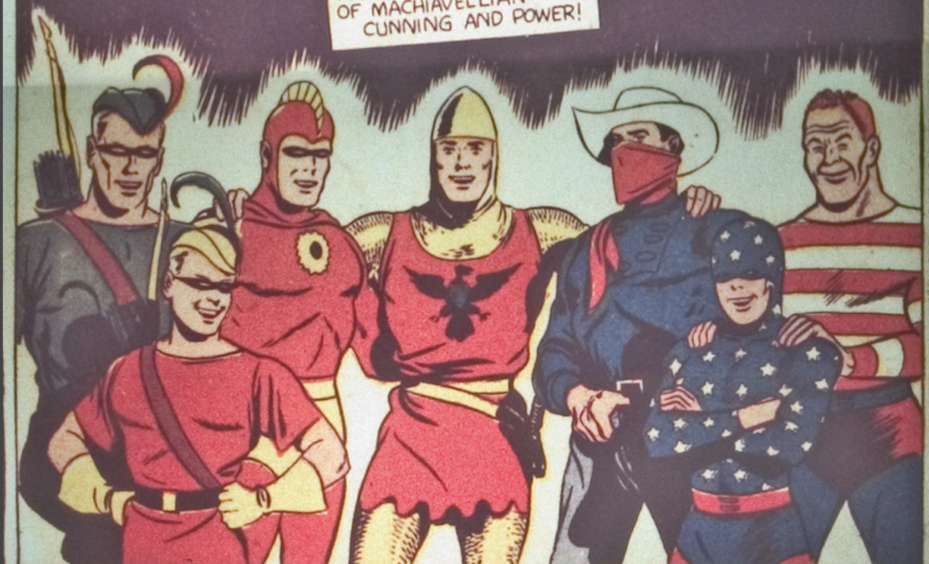 A panel from Leading Comics #1, December 1941