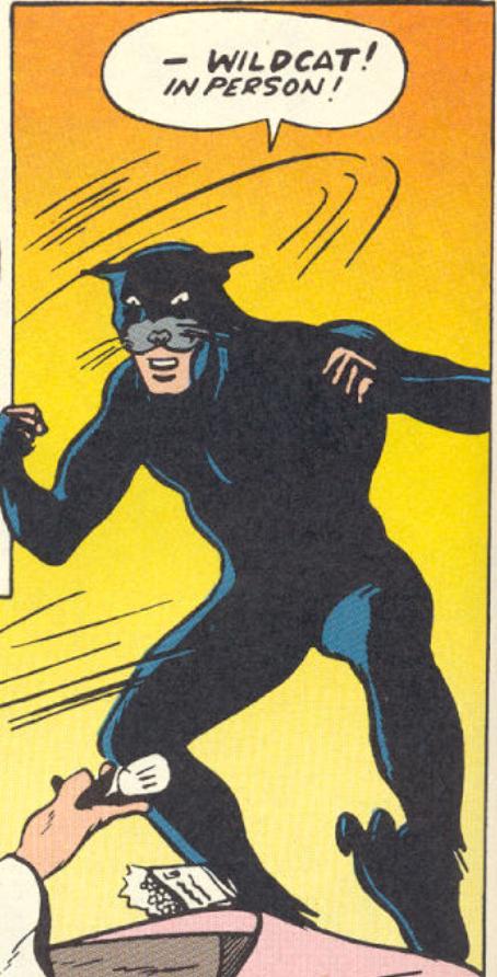 A panel from Sensation Comics #1, November 1941
