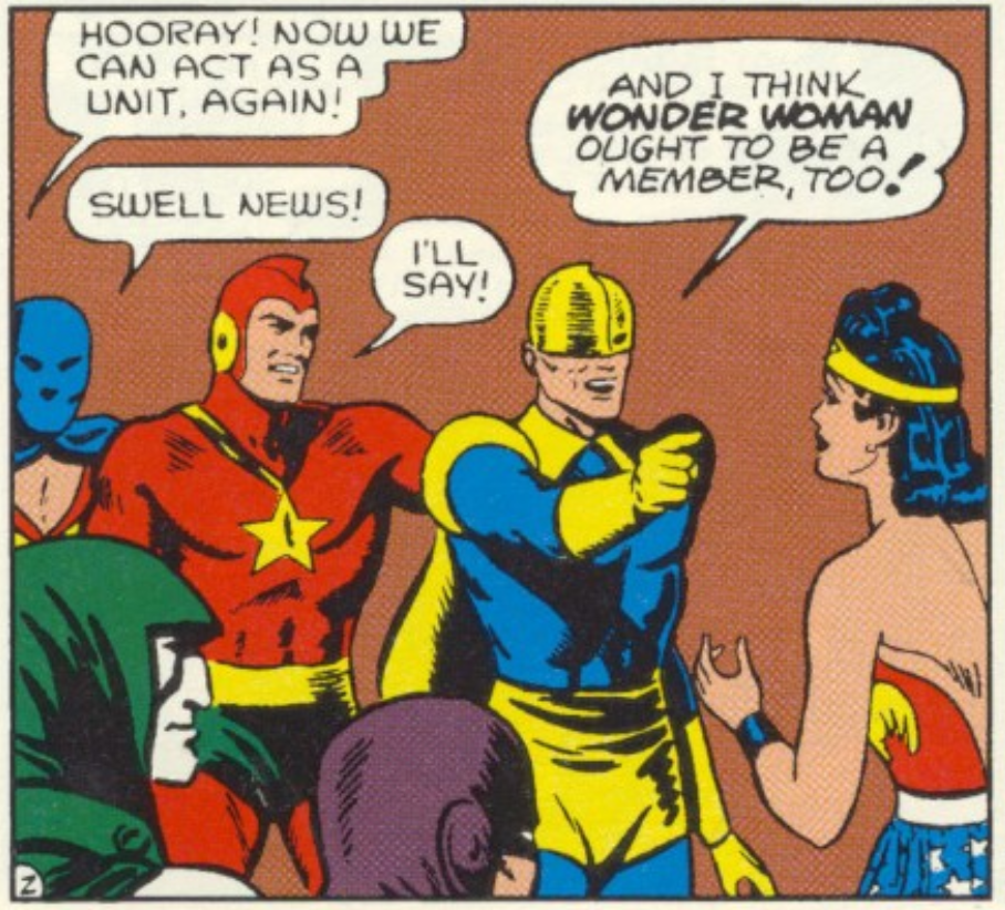A panel from All-Star Comics #11, April 1942