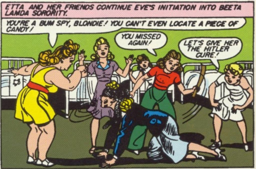 A panel from Sensation Comics #3, January 1942