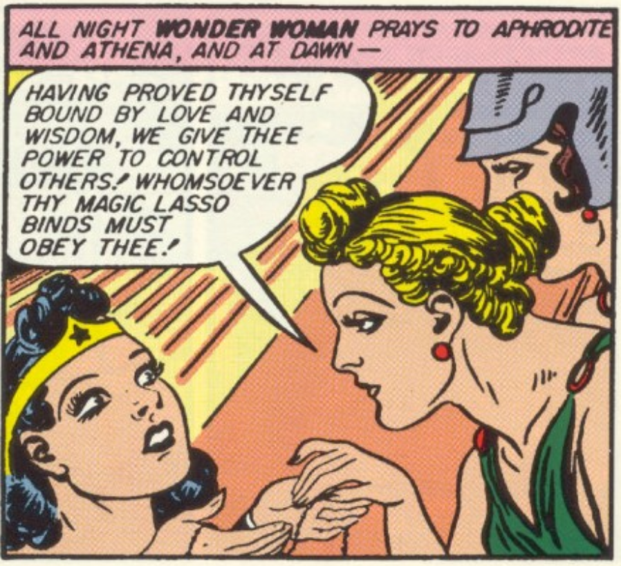 A panel from Sensation Comics #6, April 1942