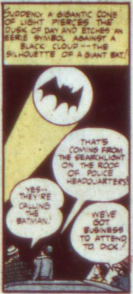 A panel from Detective Comics #60, December 1941