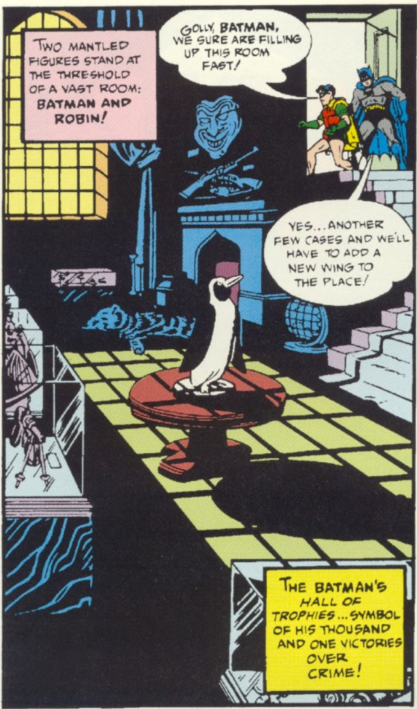 A panel from Batman #12, May 1942
