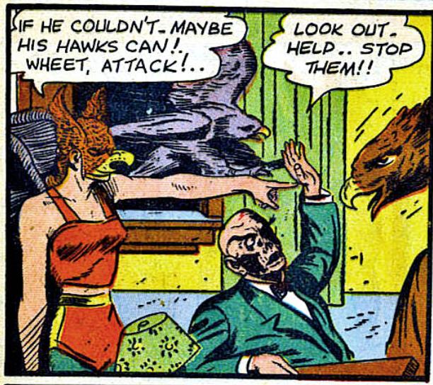 A panel from Flash Comics #37, November 1942