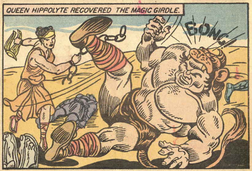 A panel from Wonder Woman #1, July 1942
