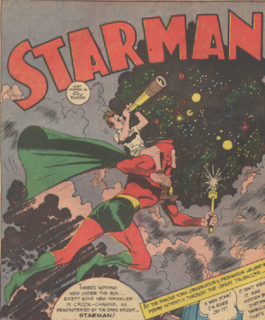 A panel from the Starman story in Adventure Comics #81, October 1942