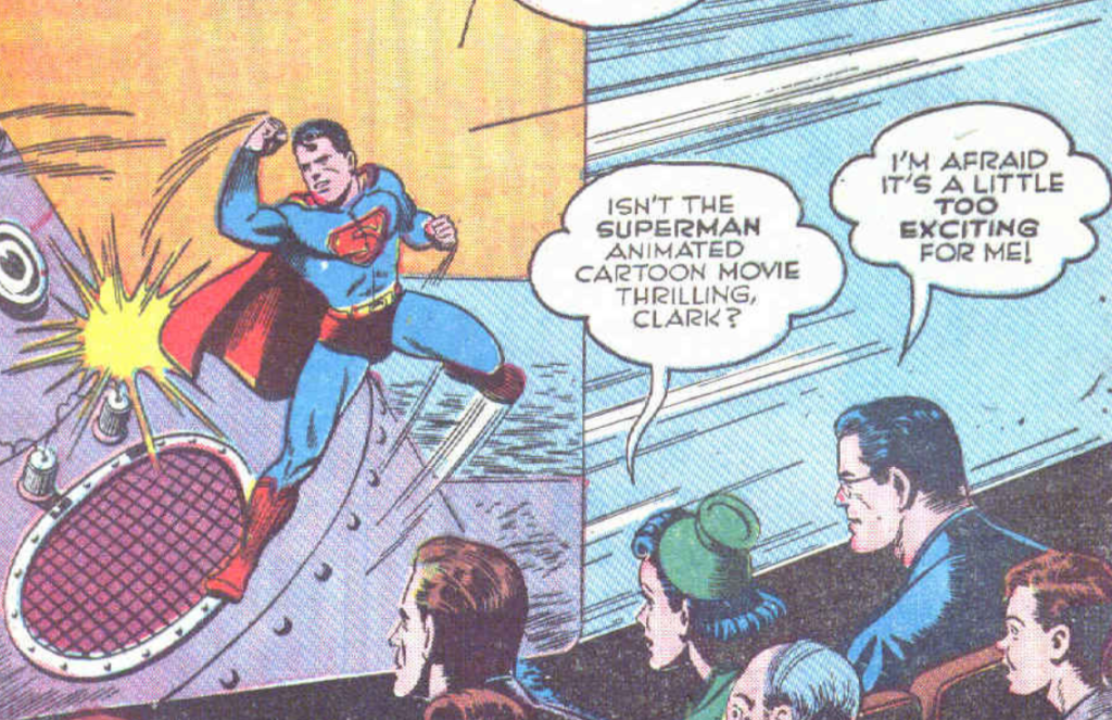 A panel from Superman Comics #19, September 1942