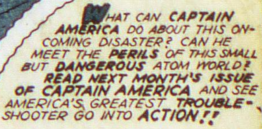 The final panel in Captain America #25, February 1943