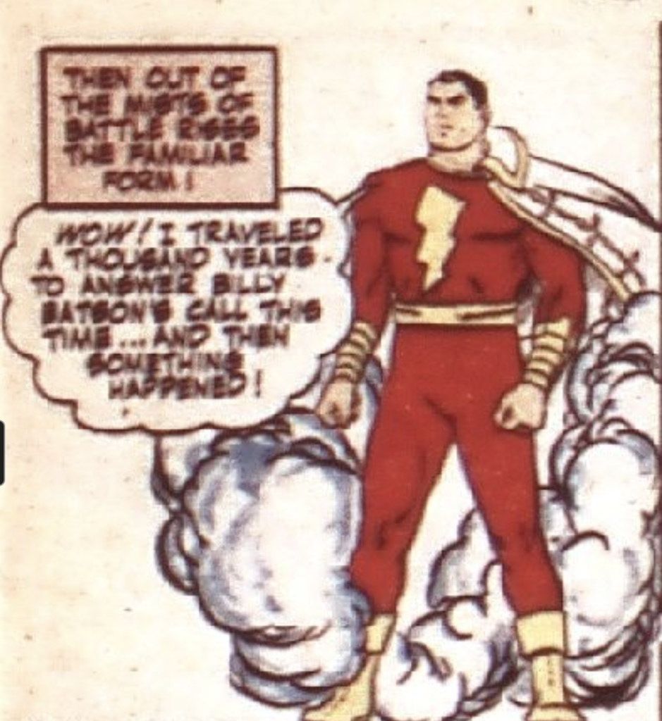 A panel from Whiz Comics #41, March 1943