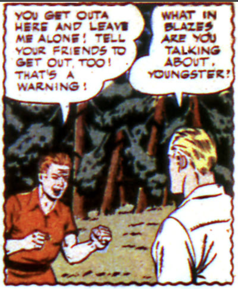 A panel from the Green Arrow story in More Fun Comics #89, January 1943