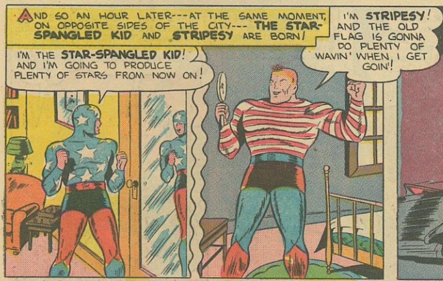 A panel from Star-Spangled Comics #18, January 1943