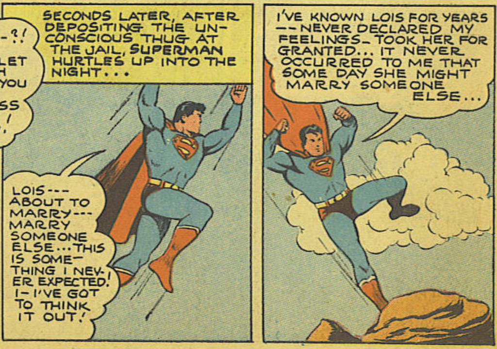 A panel from Action Comics #61, April 1943