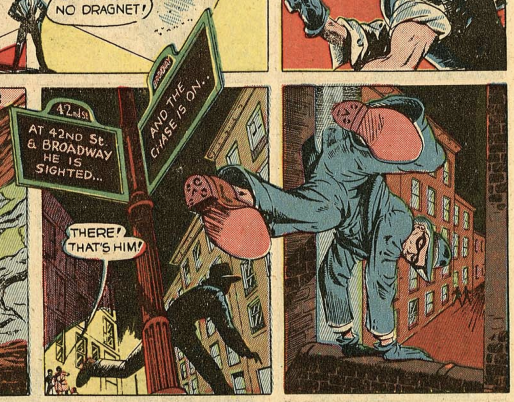 Panels from The Spirit story in Police Comics #12, October 1942