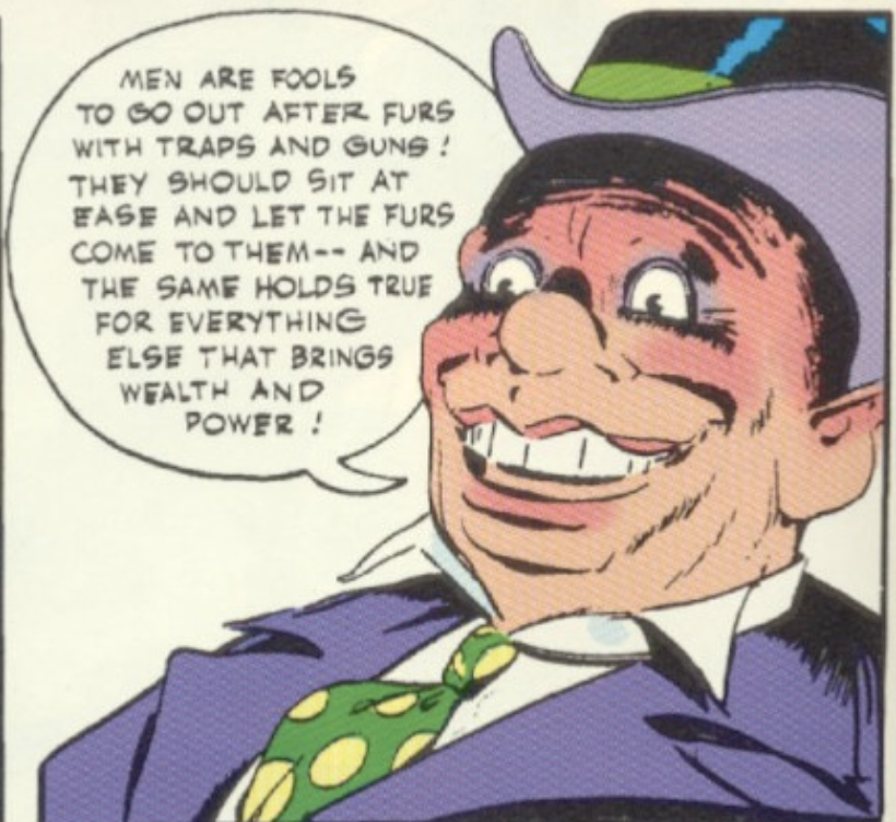 A panel from Detective Comics #74, February 1943