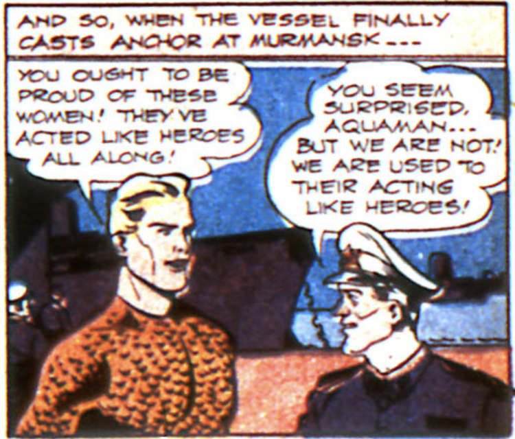 A panel from More Fun #93, July 1943