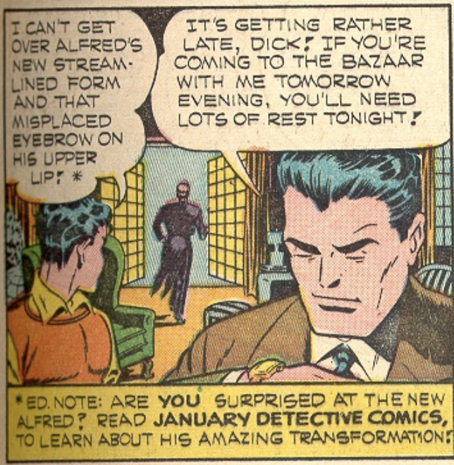 A panel from Batman #21, December 1943