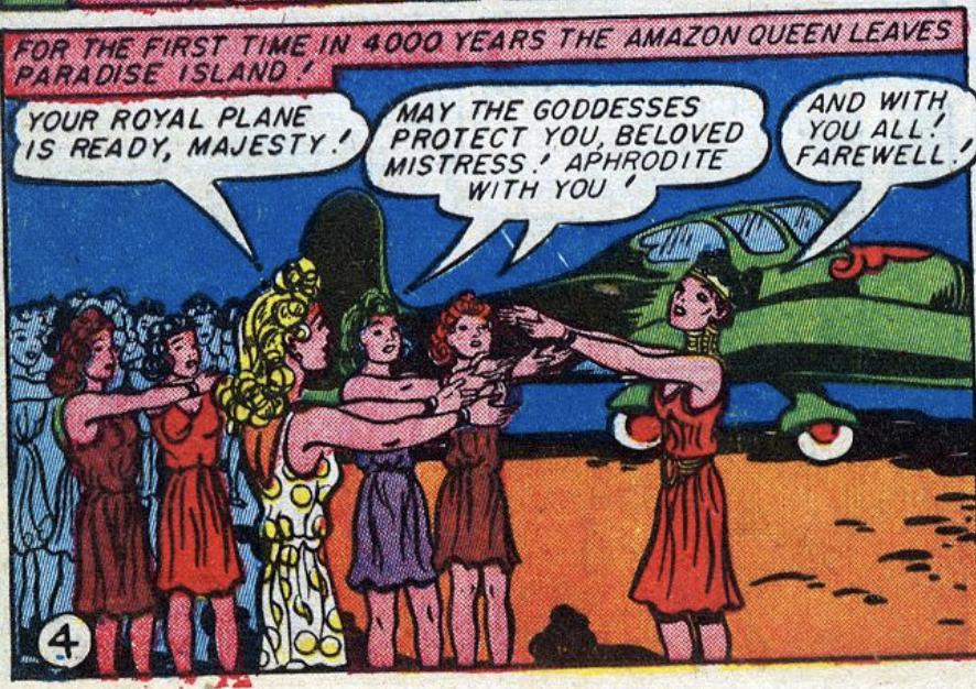A panel from Sensation Comics #26, December 1943