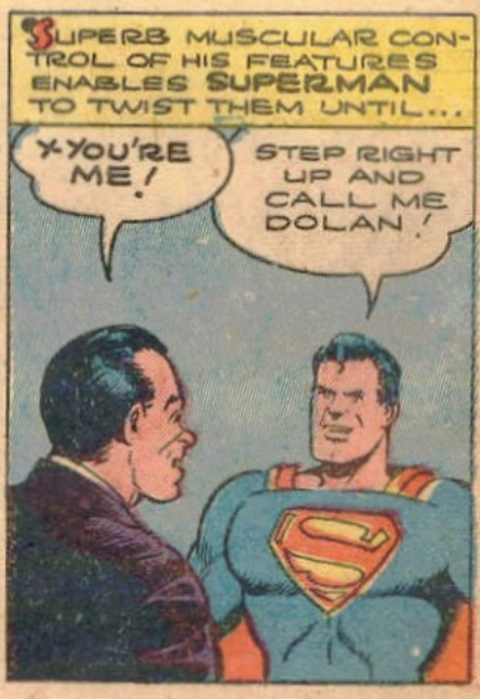A panel from Superman #20, November 1943