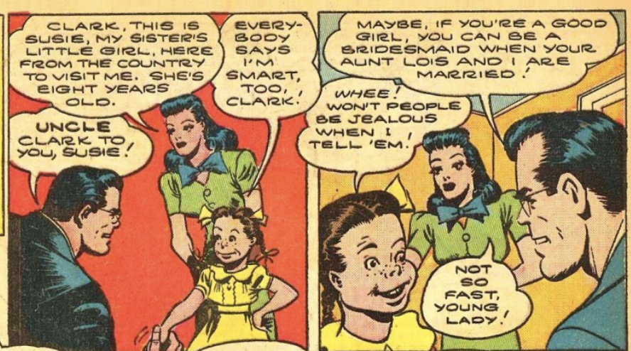A panel from Action Comics #68, November 1943