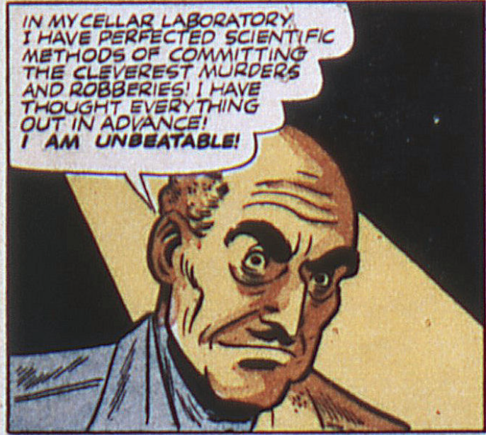 A panel of The Thinker from All-Flash Comics #12, September 1943