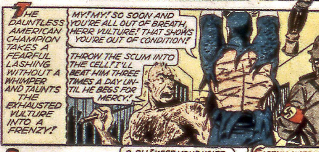 A panel of The Vulture from Captain America #32, September 1943