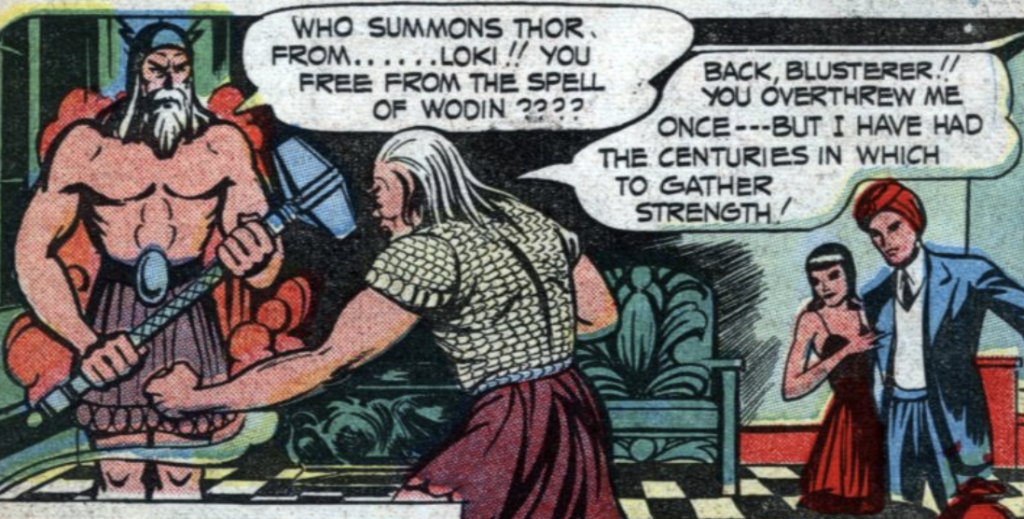A panel from the Ibis the Invincible story in Whiz Comics #50, December 1943