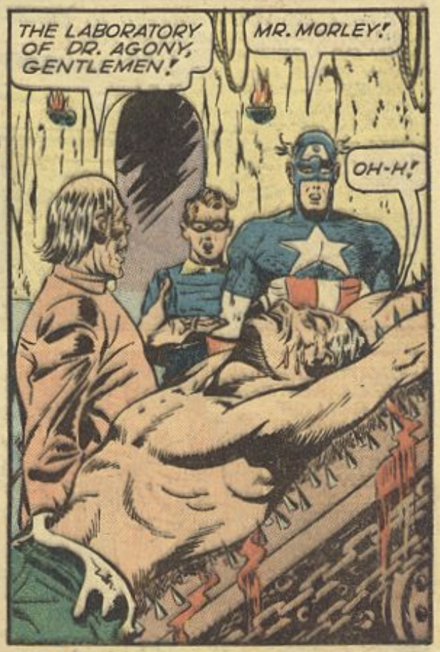 A gruesome panel from Captain America #37, February 1944