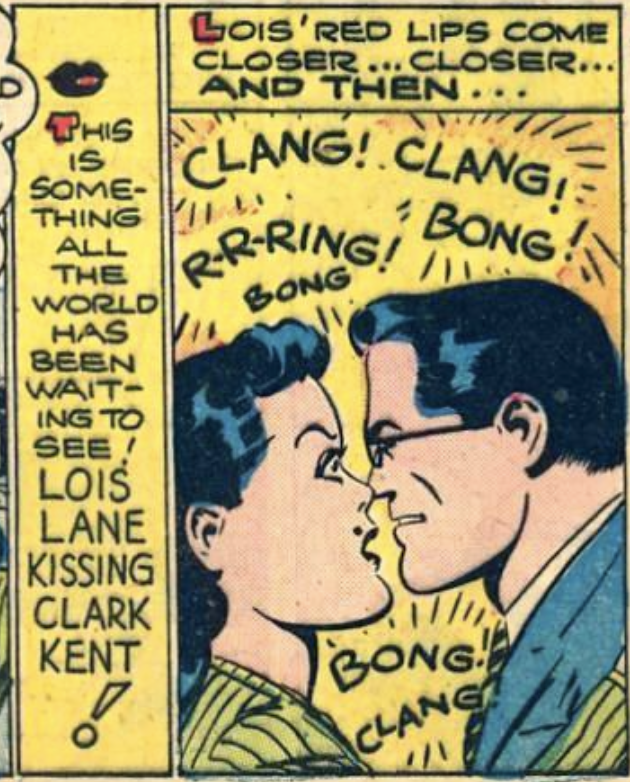 A panel from Action Comics #73, April 1944