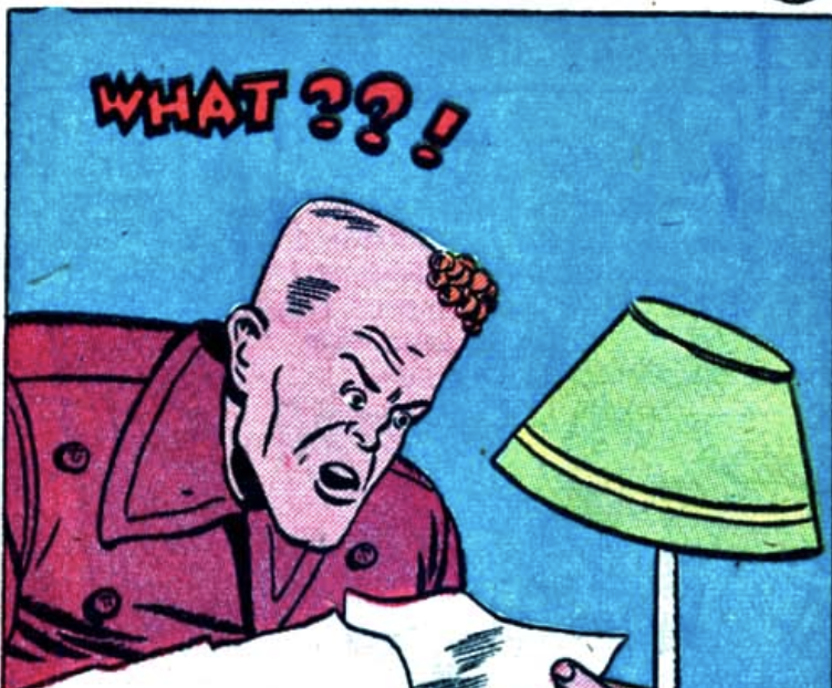 A panel from the Star Spangled Kid story in Star Spangled Comics #36, July 1944