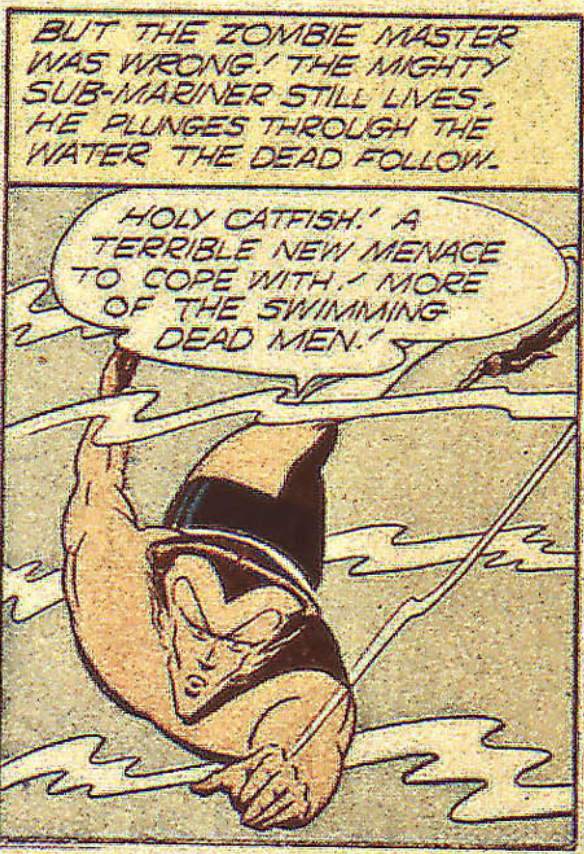 A panel from Sub-Mariner #13, April 1944