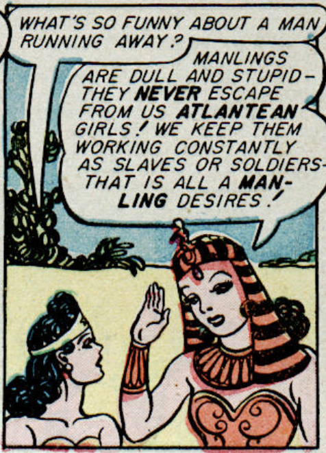 A panel from Wonder Woman #8, February 1944