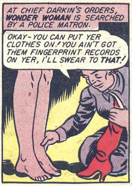 A panel from Sensation Comics #34, August 1944
