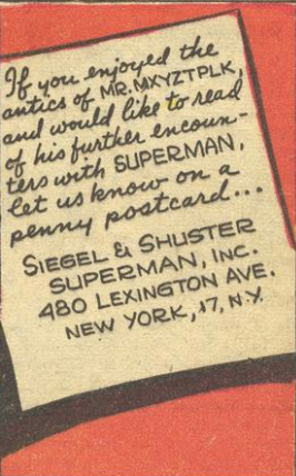 A panel from Superman #30, June 1944