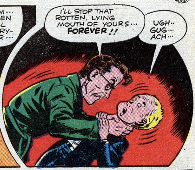 A panel from Tomorrow, the World, a story in Comic Cavalcade #10, February 1945