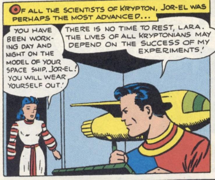 The first comic book appearance of Jor-El in More Fun Comics #101, November 1944
