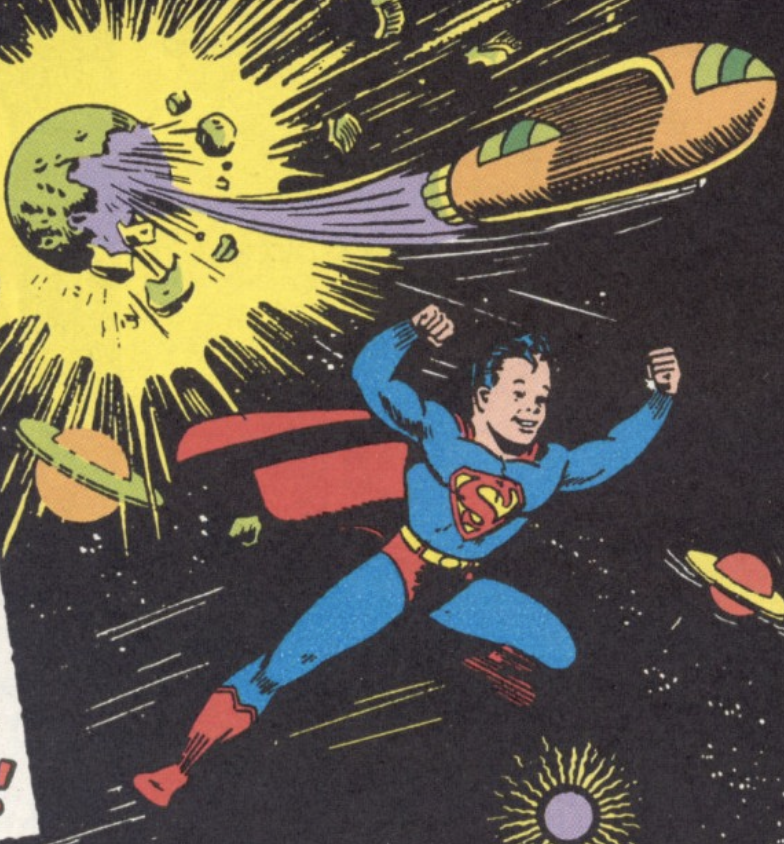The first appearance of Superboy in More Fun Comics #101, November 1944
