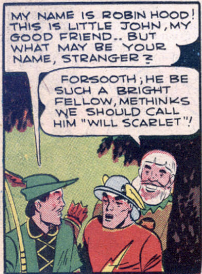 A panel from Comic Cavalcade #11, May 1945