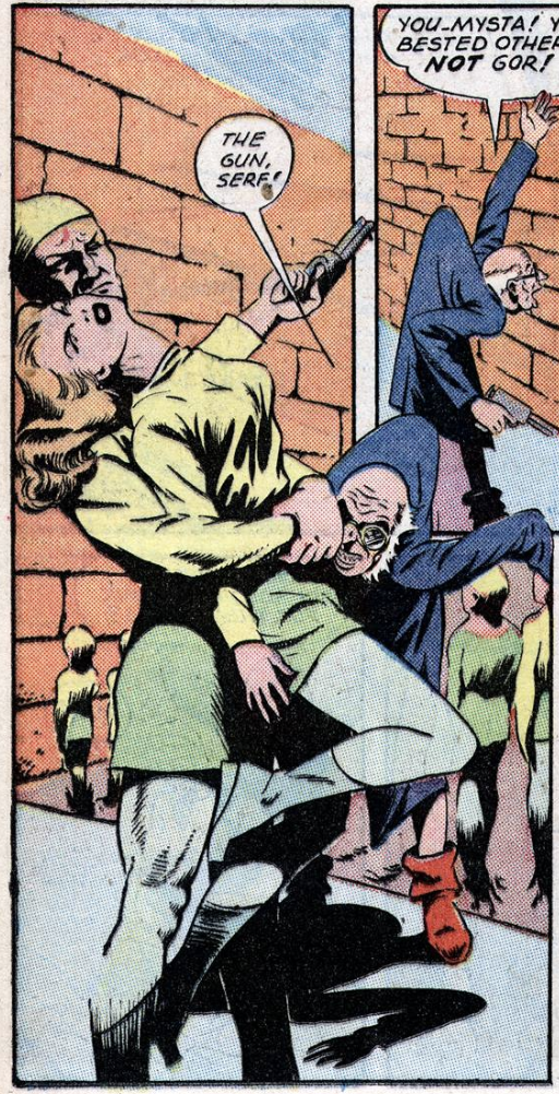 A panel from Planet Comics #37, April 1945
